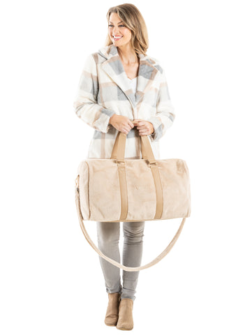 Tan Faux Fur Wholesale Bags