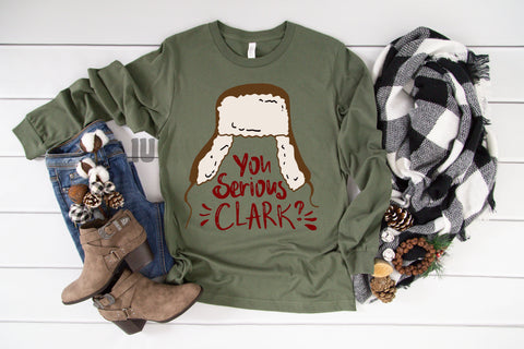 Serious Clark?- Military Green Long Sleeves