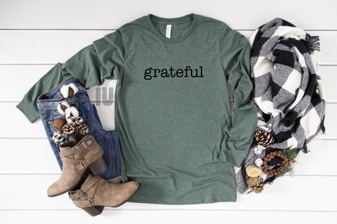 Grateful - Heather Forest Long Sleeves