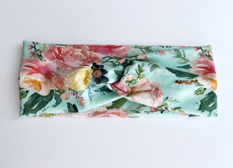 Cottage Rose Headband