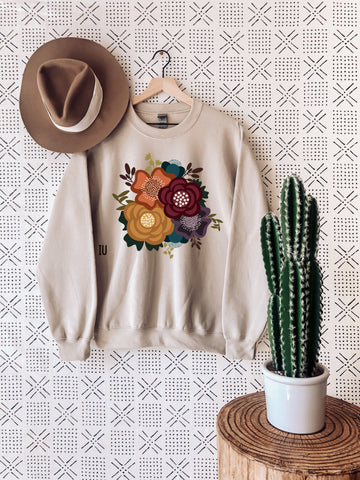 Sweatshirt - Fall Floral