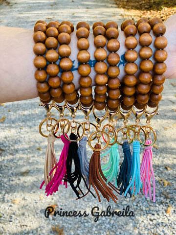 Beaded bracelet keychain