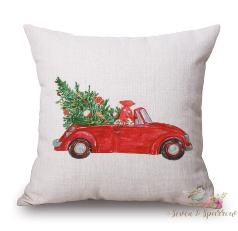 Red Convertible Pillow Cover