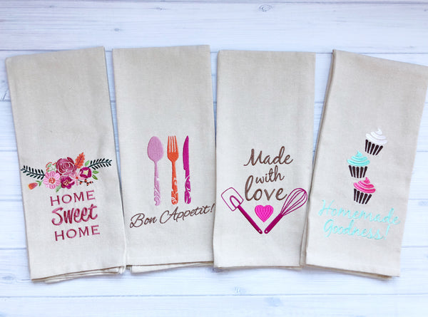 Set of 4 Kitchen Towels