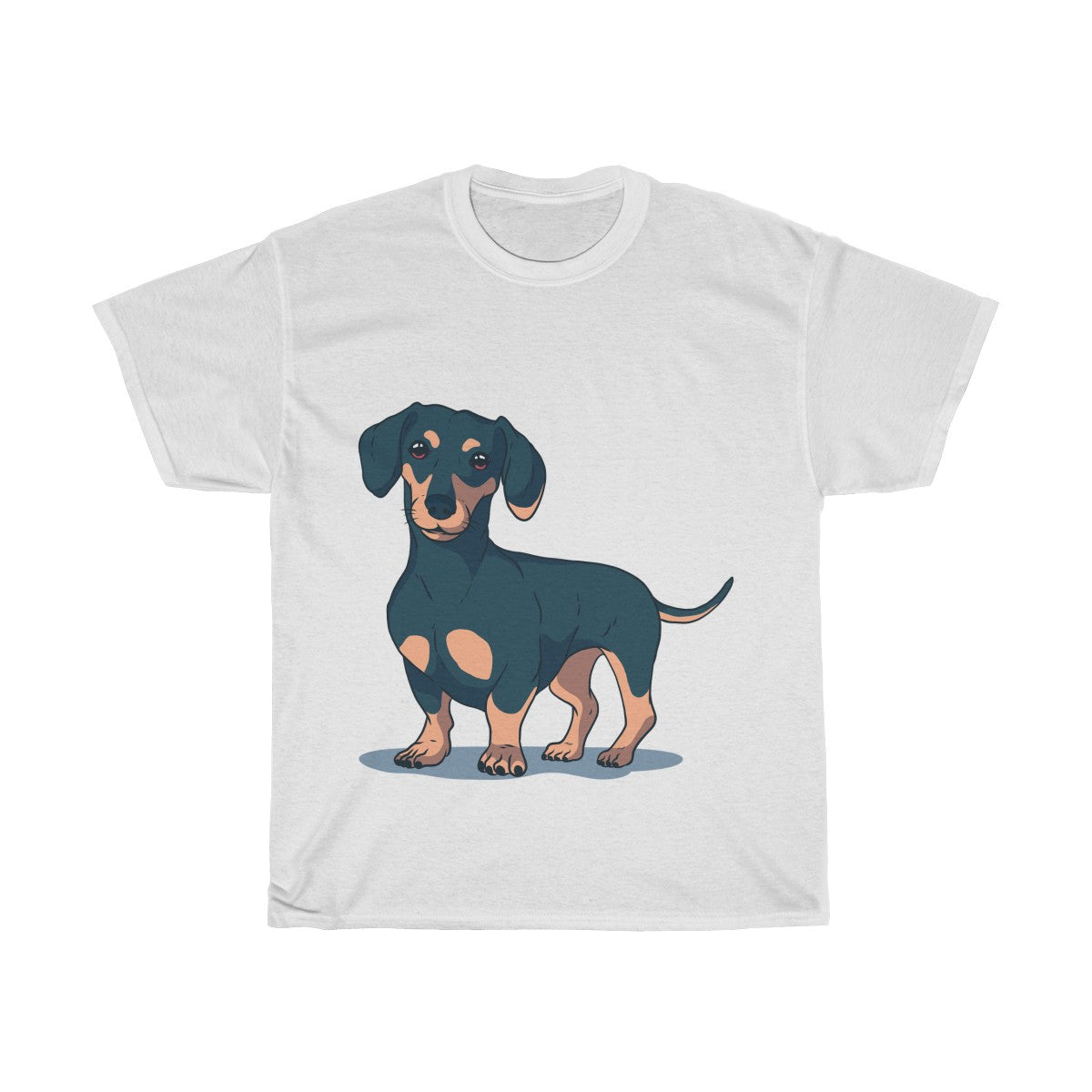 Cute Dachshund - Unisex Heavy Cotton Tee