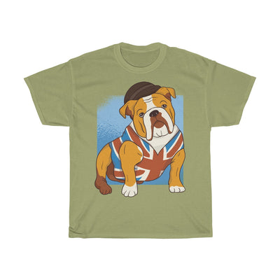 British Bulldog Dressed Up - Unisex Heavy Cotton Tee