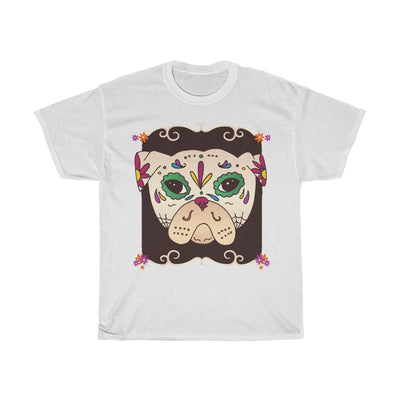 Sugar Skull Pug - Unisex Heavy Cotton Tee