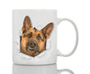 Curious German Shepherd Mug