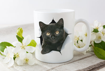Cute Black Kitten Mug