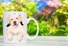 Cute White Labrador Mug