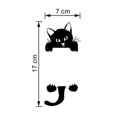 3 Pack - Black Cat Switch Stickers