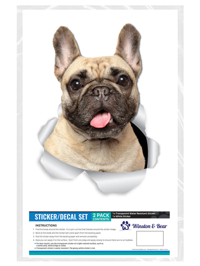 Loveable French Bulldog Decals