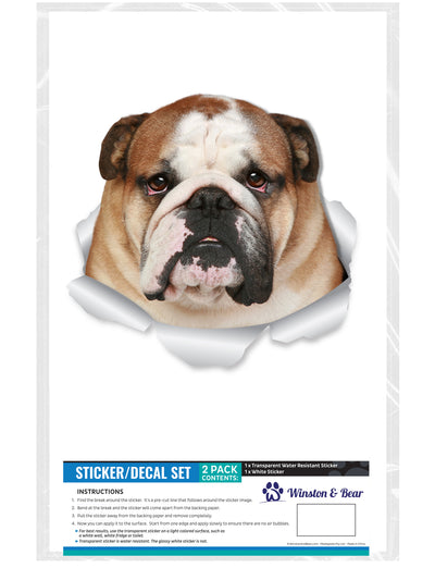 Funny Bulldog Decals