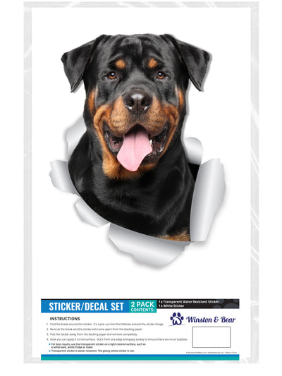 Smiling Rottweiler Decals