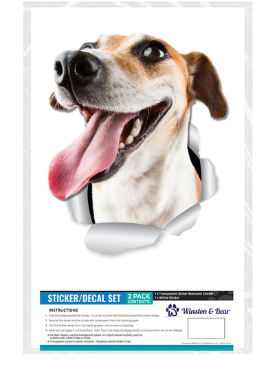 Happy Jack Russell Decals