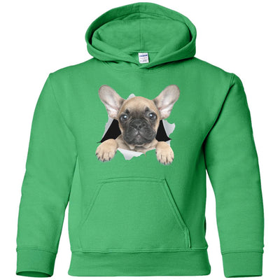 French Bulldog Pup Youth Pullover Hoodie