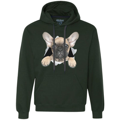 French Bulldog Pup Heavyweight Pullover Fleece Hoodie