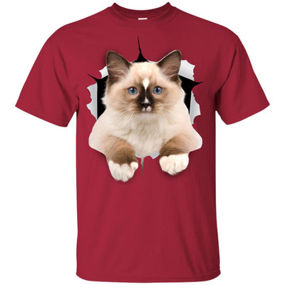 Brown Ragdoll Cat Youth Cotton T-Shirt
