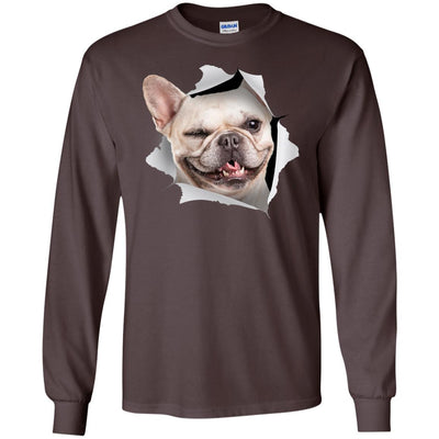 Winking Frenchie Long Sleeve Ultra Cotton T-Shirt