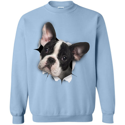Black & White Frenchie Crewneck Pullover Sweatshirt