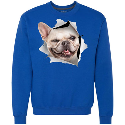 Winking Frenchie Heavyweight Crewneck Sweatshirt