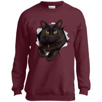 Black Cat Youth Crewneck Sweatshirt