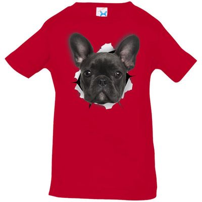 Black Frenchie Infant Jersey T-Shirt