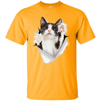 Black & White Reaching Cat Ultra Cotton T-Shirt