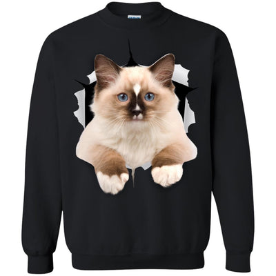 Brown Ragdoll Cat Crewneck Pullover Sweatshirt