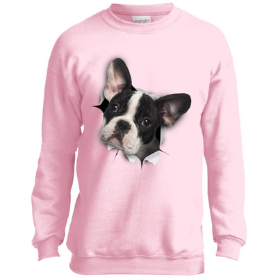 Black & White Frenchie Youth Crewneck Sweatshirt