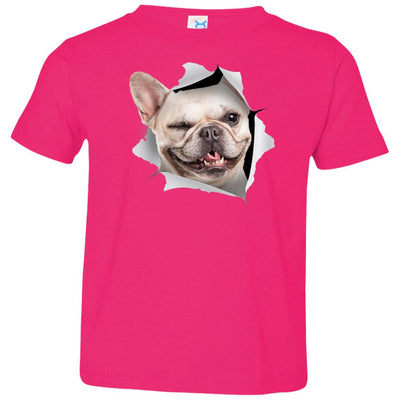 Winking Frenchie Toddler Jersey T-Shirt