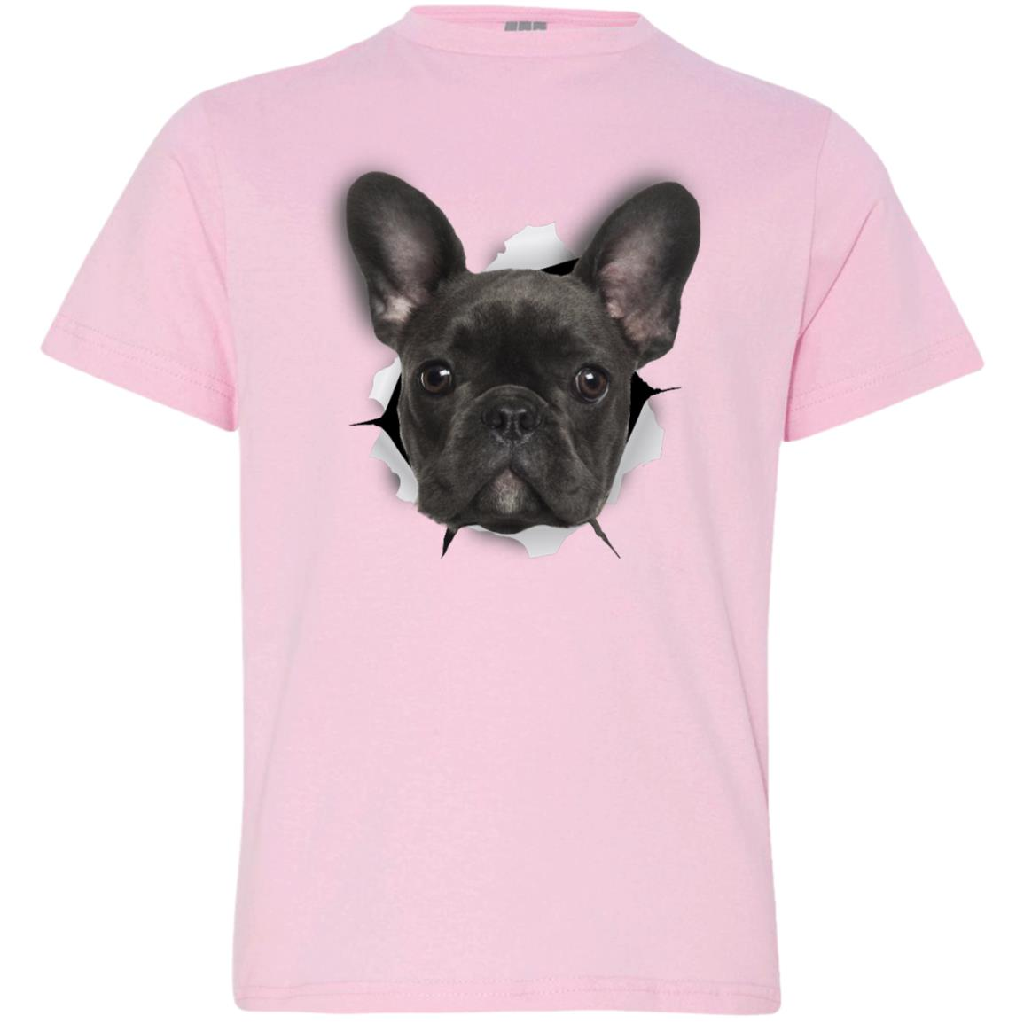 Black Frenchie Youth Jersey T-Shirt