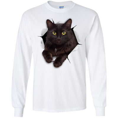 Black Cat Long Sleeve Ultra Cotton T-Shirt
