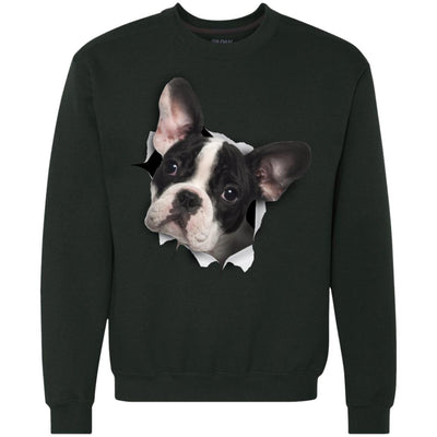 Black & White Frenchie Heavyweight Crewneck Sweatshirt