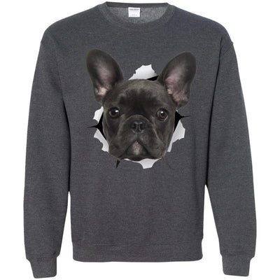 Black Frenchie Crewneck Pullover Sweatshirt