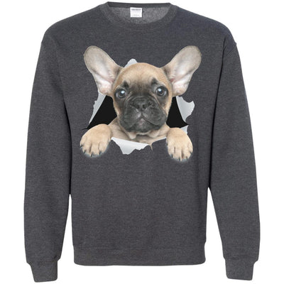 French Bulldog Pup Crewneck Pullover Sweatshirt