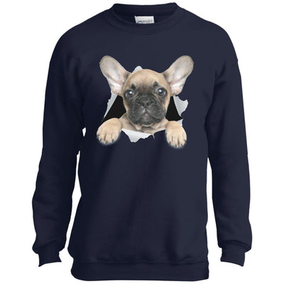 French Bulldog Pup Youth Crewneck Sweatshirt