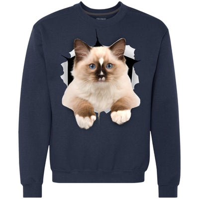 Brown Ragdoll Cat Heavyweight Crewneck Sweatshirt