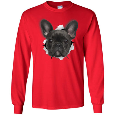 Black Frenchie Long Sleeve Ultra Cotton T-Shirt