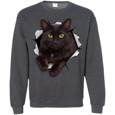 Black Cat Crewneck Pullover Sweatshirt