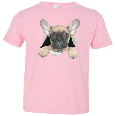 French Bulldog Pup Toddler Jersey T-Shirt