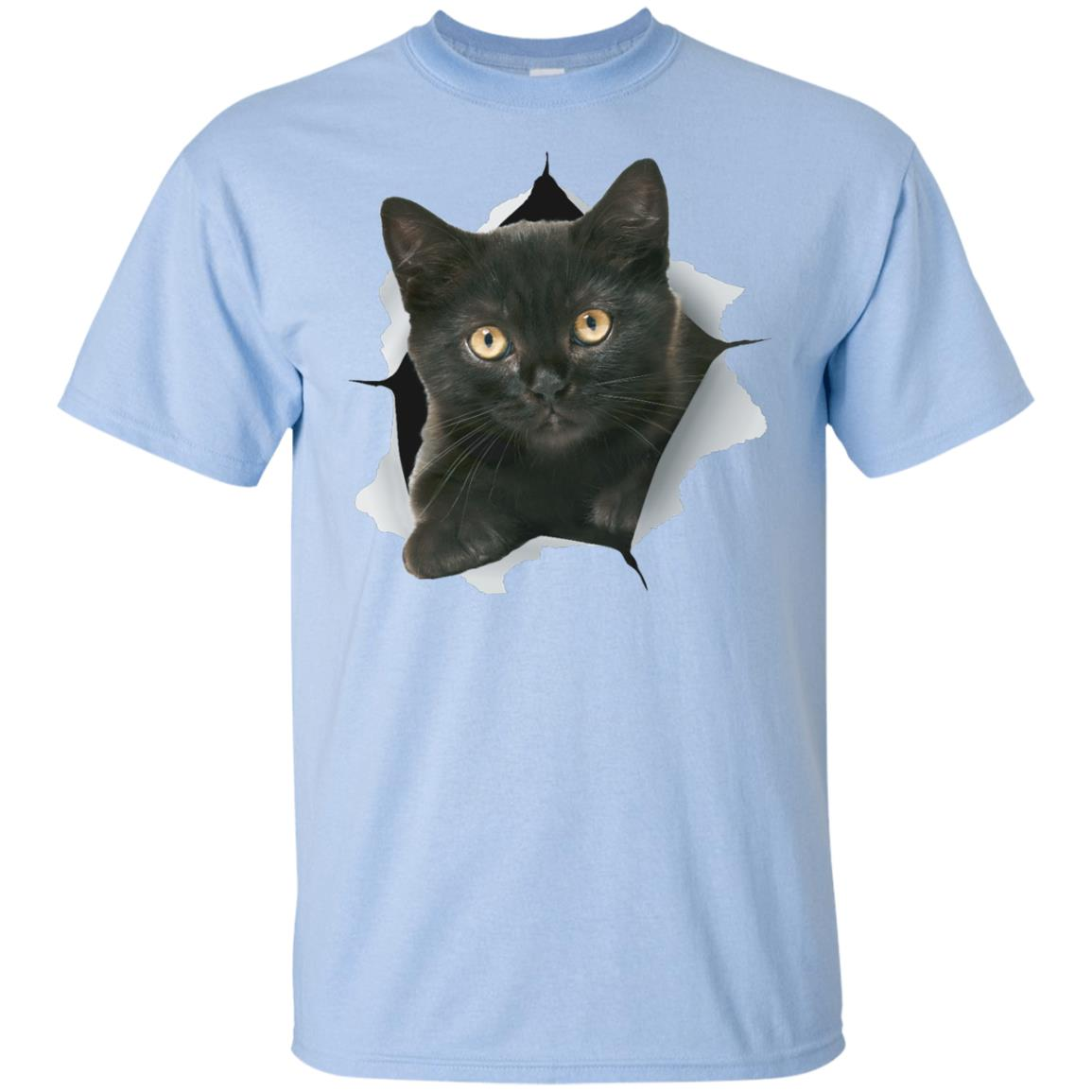 Black Kitten Youth Cotton T-Shirt