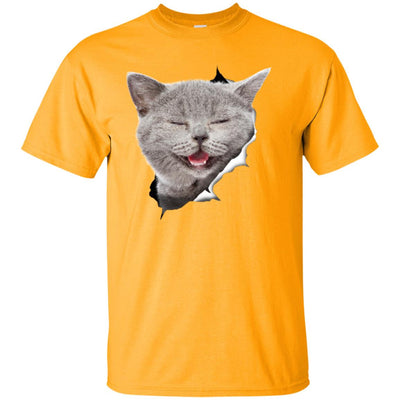 Grey Cat Laughing Ultra Cotton T-Shirt
