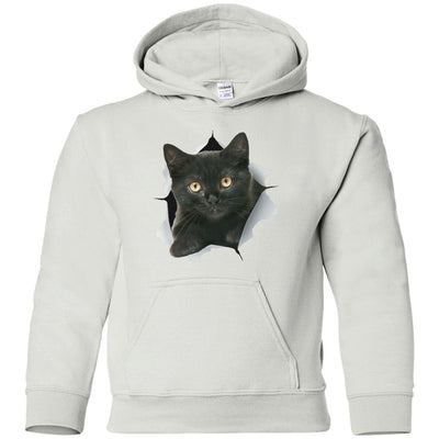 Black Kitten Youth Pullover Hoodie