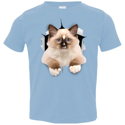 Brown Ragdoll Cat Toddler Jersey T-Shirt