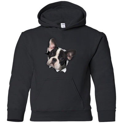 Black & White Frenchie Youth Pullover Hoodie