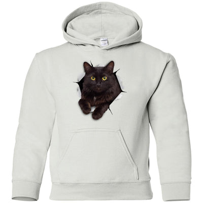 Black Cat Youth Pullover Hoodie