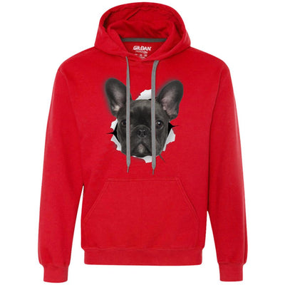Black Frenchie Heavyweight Pullover Fleece Hoodie