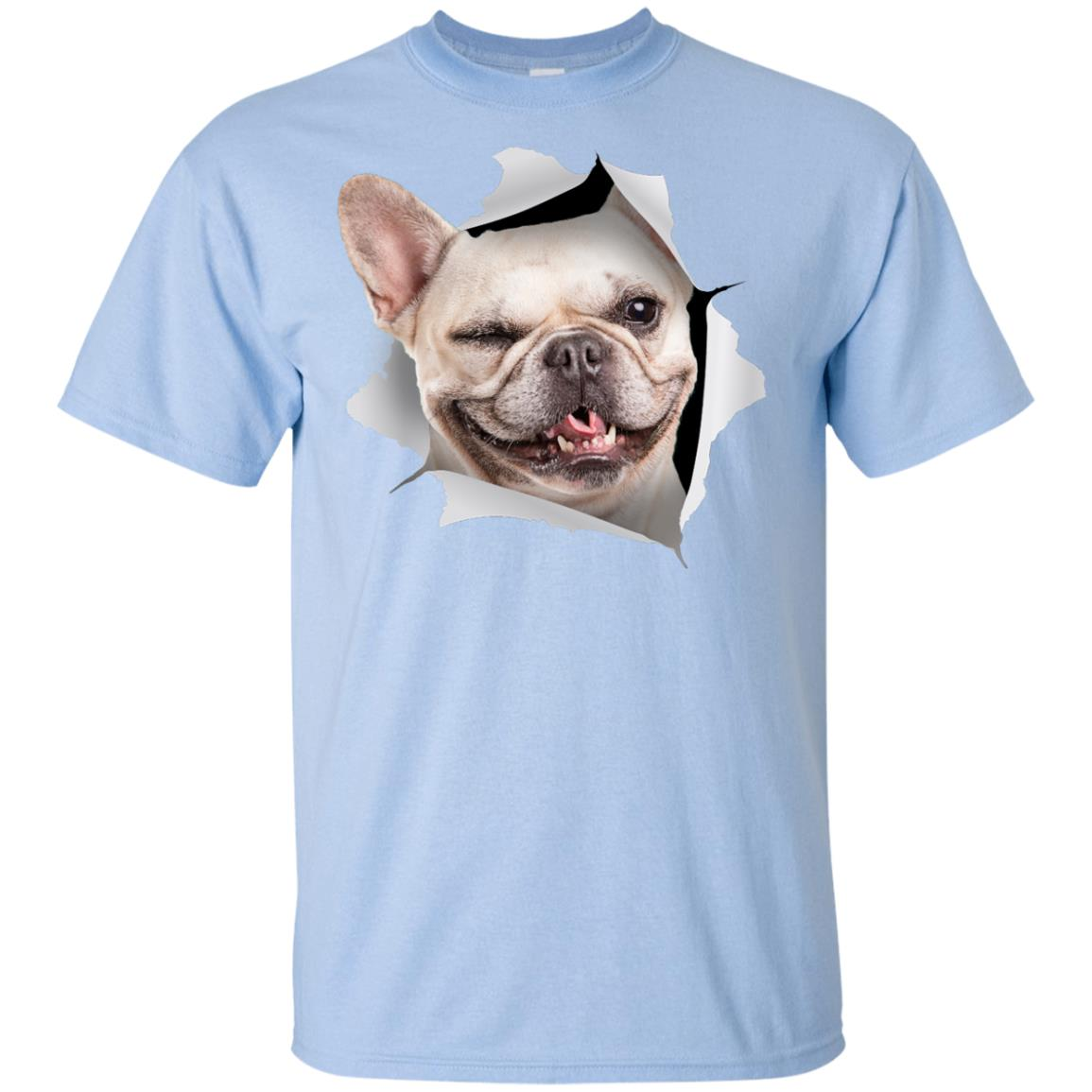 Winking Frenchie Youth Cotton T-Shirt