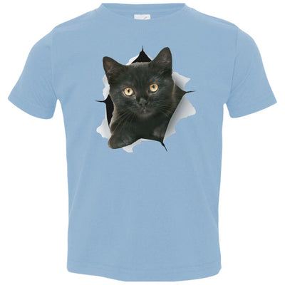 Black Kitten Toddler Jersey T-Shirt